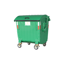 1100L-2-2 Galvanized Powder Coating Sheet Dust Bin