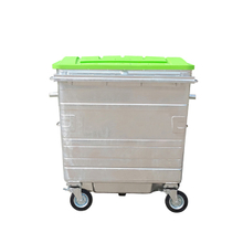 1100L-6-7 Galvanized Black Steel Dustbin