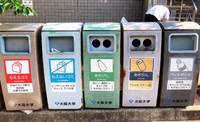 What are the types of garbage in Japan?