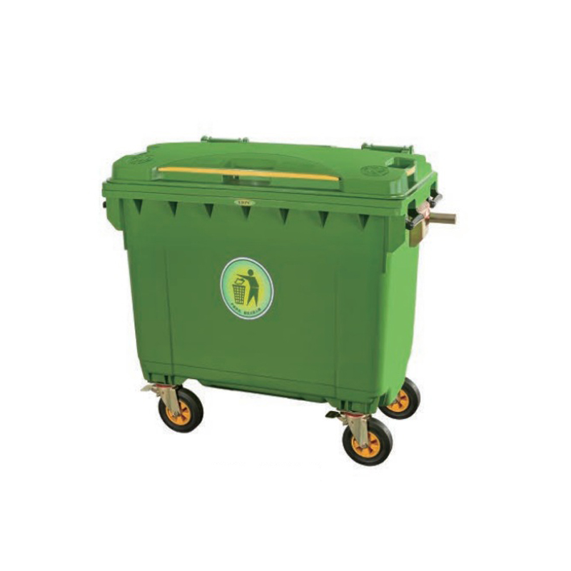 660L B Type Movable Outdoor Plastic Garbage Container