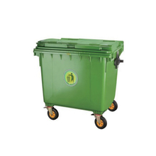 660L Big Size Movable Outdoor Plastic Garbage Container