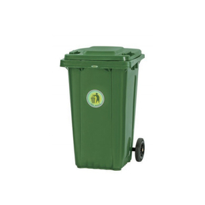 360L Two Wheels Outdoor Colorful Plastic Garbage Container